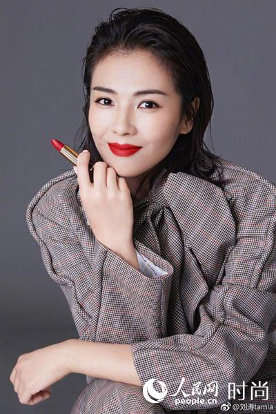刘涛 -兰蔻菁纯唇膏189