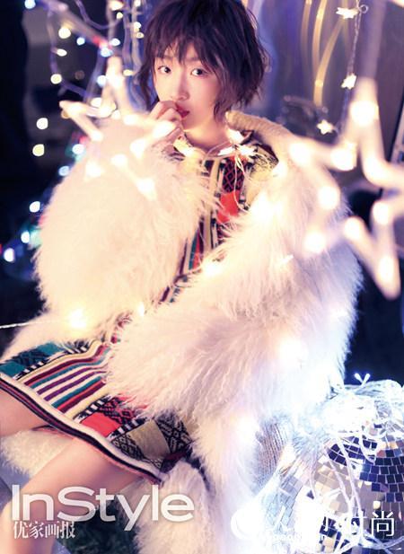 周冬雨登时尚杂志封面 缤纷圣诞化身精灵【8】