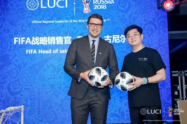"""LUCI携全球首款IOD视镜亮相""""世界杯之夜"""" 人屏互动科技"""