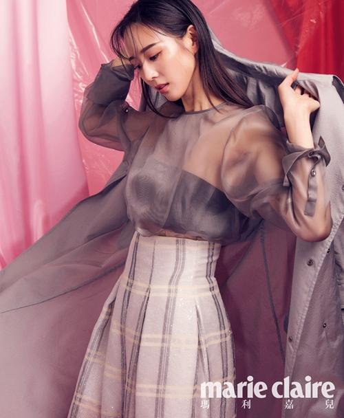 张钧甯粉色系梦幻封面大片 高级性感展现朦胧美【2】