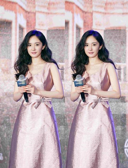 杨幂亮相《筑梦情缘》开播发布会 粉色礼服美过芭比【3】