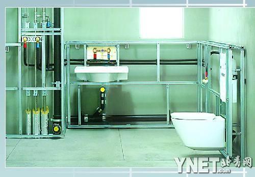 """还""""开辟""""了新的储物空间隐藏式马桶的安装系统"""